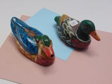 Small Handpainted Decorative Duck Decoy Lot