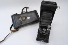 Vintage Pocket Kodak No 1A Series II Accordion Camera in Case with Instructions