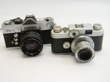 Vintage Argus C-44 & Petri FA-1 35mm Camera Lot
