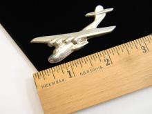 Vintage Sterling Silver Float Plane Brooch