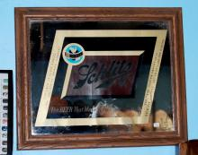 Vintage Schlitz Beer Framed Bar Sign