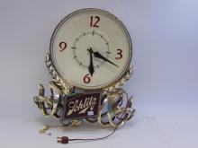 Vintage Schlitz Beer Lighted Wall Clock