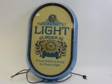 1977 Schlitz Light Beer Bar Light Sign