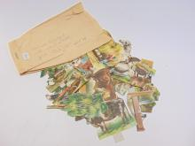 1895 Blackwell's Durham Tobacco Co Farm Animal Paper Cut Out Lot
