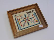 Unsigned Native American Pueblo Creation Story Sand Painting