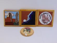 4 Native American Wall Hanging Tiles