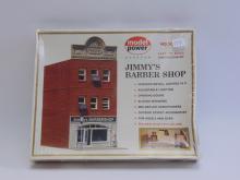 Vintage Model Power Jimmy's Barber Shop HO Scale Model Train Building
