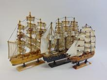 Lot of 3 Wooden Ships 2 Are Mayflower