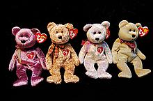 Lot Of 4 Signature Ty Beanie Babies 1999-2002