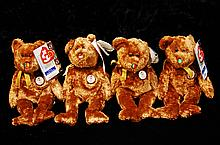Lot Of 4 Ty Beanie Babies Champion Collection