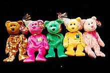 Lot Of 5 Ty Beanie Babies
