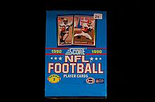 Box Of 1990 Score NFL Player Cards Series 2