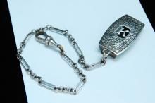 Vintage Silver Front Belt Pocket Watch Chain