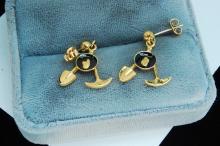 Genuine Gold Nugget Miners Post Earrings