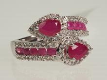 Sterling Silver Ruby (3.00ct) Ring