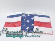 Lot of 4 New Polyester 3'x5' American Flags