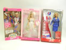 Mattel Collectible Barbie Doll Lot Of 3