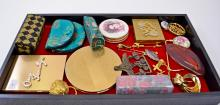Mixed Lot of Vintage Compacts Vanity and Costume Jewelry Items
