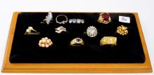 Lot of 11 Vintage Costume Jewelry Rings