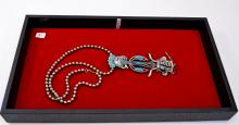 Vintage Silver Tone and Man Made Turquoise Native American Indian Costume Jewelry 28