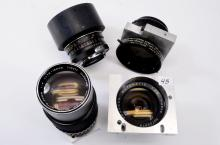 Lot of 4 Rexagon Automatic 28mm Olympus 75-150mm Miltar Bell & Howell Camera Lenses