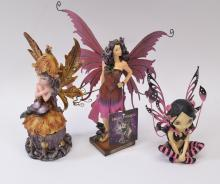 Lot of 3 Fairy Figurines Including GSC in Box and Zemeno Scorpio Night Fairy