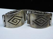 Vintage Sterling Hopi Shadow Box Tribal Design