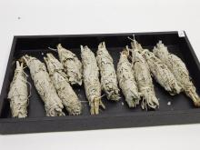 Lot Of Ten California Wide Leaf White Sage Smudge