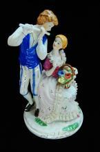 Vintage Dresden Style Porcelain Figurine