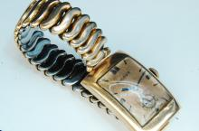 Antique14K Gold Filled Bulova Mens Dress Watch