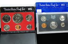 1972 & 1973 US Proof Coin Set Lot Of 2
