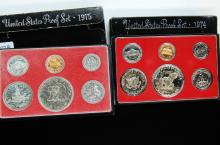 1974 & 1975 US Proof Coin Set Lot Of 2