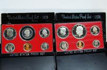 1978 & 1979 US Proof Coin Set Lot Of 2