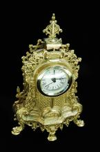 Brass Baroque Design Uranio Mantle Clock