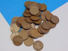 Lot of Early Wheat Cents From the Teens to the Forties