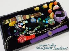 Lot of Watches Costume Jewelry and Art Glass Necklace