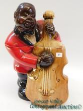 Black Americana Jazz Bass Player Cookie Jar