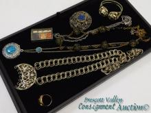 Lot of Unique Vintage Costume Jewelry Necklaces Bracelet Brooch and Ring