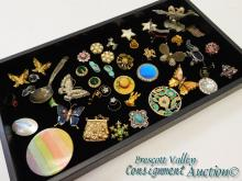Lot of Vintage Costume Jewelry Earrings Brooches and Miniature Animals
