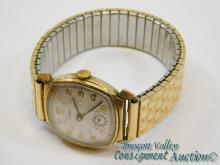 Vintage Parker Manual Wind Swiss Movement Men's Wrist Watch on 10K Gold Filled Bracelet