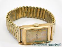 Antique 10K Gold Filled Waltham Men's Wrist Watch