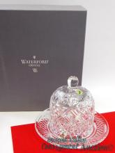 New 2000 Waterford Society Crystal Samuel Miller Dessert Dome Signed by Jim O'Leary in Box