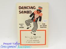 Vintage Joe Stuthard Magic Trick Dancing Sambo Black Americana Paper Doll