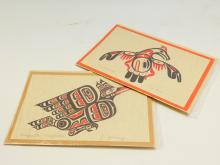 2 Northwest Coast Indian Art Cards Limited Ed By Jim Johnny & Tim Paul