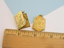 Vintage 12K Gold Filled Engraved Locket Lot Of 2