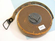 Vintage Lufkin Rule Co 50ft Leather Tape Measure