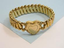 Vintage Gold Filled Heart Bracelet