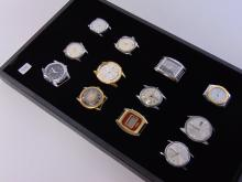 Lot of 12 Vintage Mens Watchs For Parts or Repair