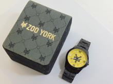 Mens Large Dial Black Zoo York Wrist Watch