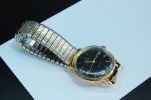 Vintage Men's Hamilton Wristwatch Working w 18kt Gold Filled Band